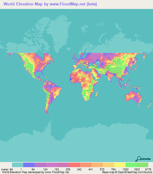 Map 60.World Elevation Map Elevation And Elevation Maps Of Cities
