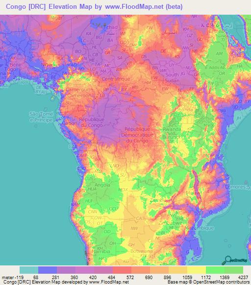 Congo Map Congo Democratic Republic Map Travelsfinders Com Congo - World map congo river