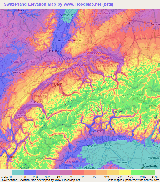 Switzerland Elevation and Elevation Maps of Cities ... on map spain cities, map tx cities, map with cities, map china cities, map europe, map france cities, map equatorial guinea cities, switzerland largest cities, map italy cities, map georgia cities, map of the usa cities, map germany cities, switzerland alps cities, map az cities, map japan cities, map jordan cities, switzerland capital and major cities, map india cities, map ireland cities, map england cities,