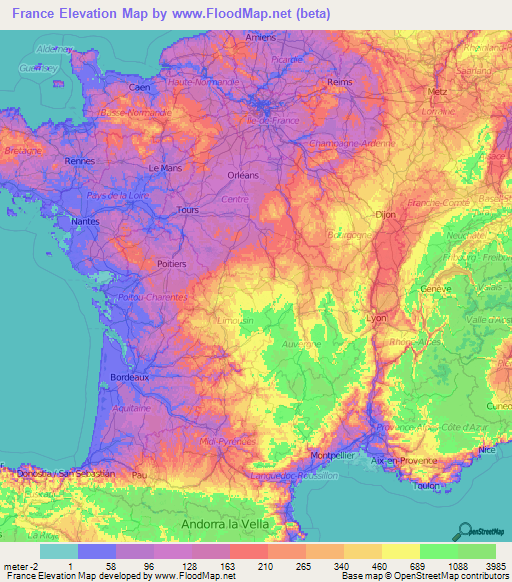 Map Of Provence France With Cities.France Elevation And Elevation Maps Of Cities Topographic Map Contour
