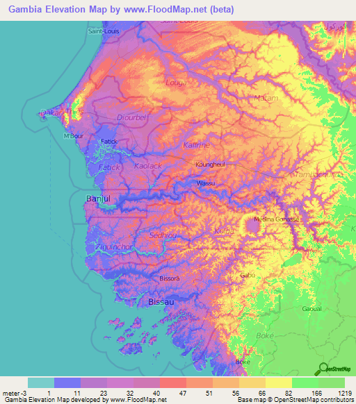 Worksheet. Gambia Elevation and Elevation Maps of Cities Topographic Map Contour
