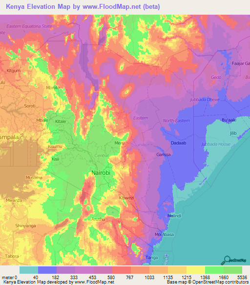 topographic map of kenya Kenya Elevation And Elevation Maps Of Cities Topographic Map Contour