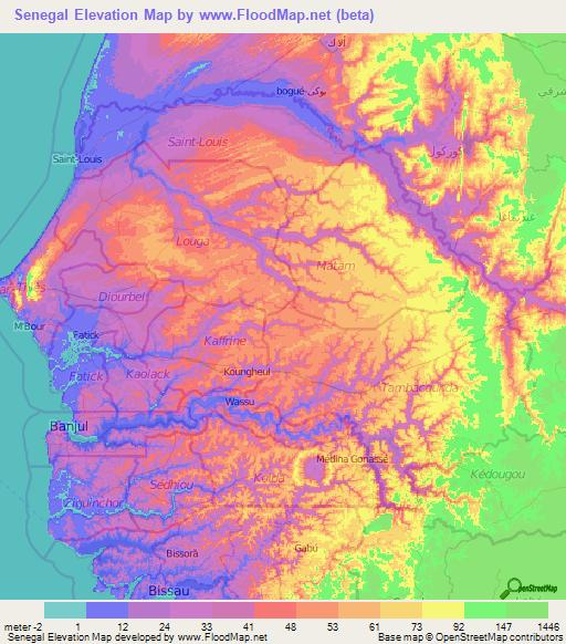 Senegal Elevation and Elevation Maps of Cities, Topographic ... on denmark map, benin map, nepal on map, eritrea map, sudan map, political map, angola map, madagascar map, rwanda map, tanzania map, mozambique map, bangladesh map, gabon map, namibia map, niger map, tunisia map, the gambia map, seychelles map, morocco map, lesotho map, algeria map, ghana map, ethiopia map, zimbabwe map, dakar map, kenya map, malawi map, uganda map, cameroon map, nigeria map, guinea map, turkey map, syria map, mali map, singapore map, africa map,