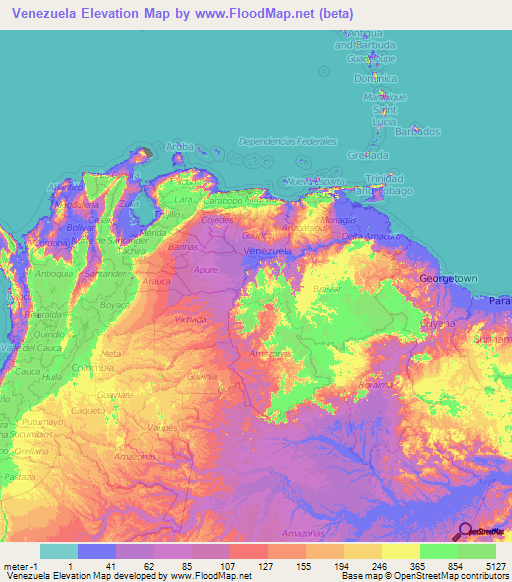 Venezuela Elevation and Elevation Maps of Cities ... on puerto cabello venezuela map, simple venezuela map, maracaibo venezuela map, porlamar venezuela map, merida venezuela map, ciudad bolivar venezuela map, valencia venezuela map, barquisimeto venezuela map, argentina and venezuela map, paria peninsula venezuela map, venezuela river map, los roques venezuela map, venezuela colombia map, caracas venezuela map, punto fijo venezuela map, venezuela south america map, la guaira venezuela map, puerto la cruz venezuela map, aruba venezuela map, venezuela on a map,