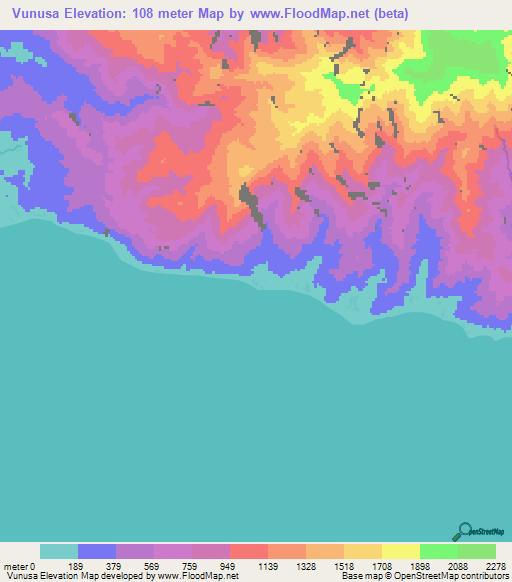 Elevation of Vunusa,Solomon Islands Elevation Map