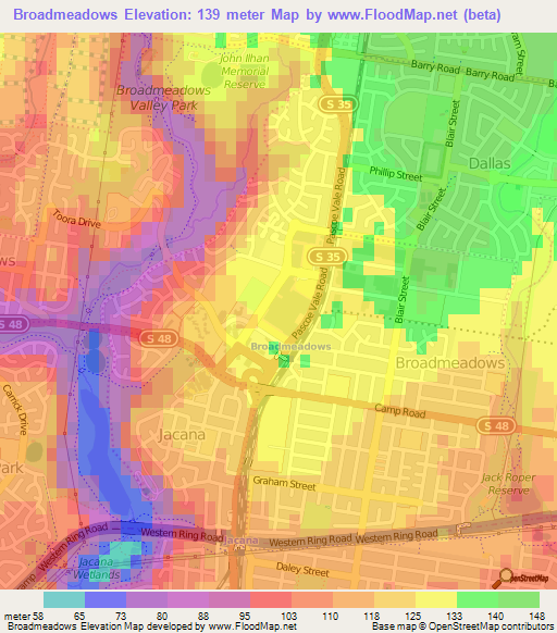 Ark Elevation Map.Elevation Of Broadmeadows Australia Elevation Map Topography Contour