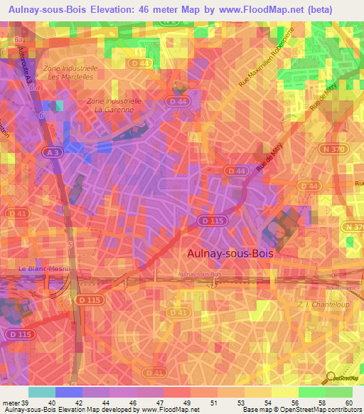 Aulnay France Map images ~ Aulnay Sous Bois Carte