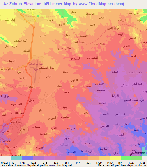 Elevation Of Az Zahrah Yemen Elevation Map Topography Contour