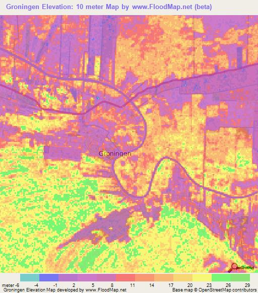 Elevation of Groningen,Suriname Elevation Map, Topography, Contour