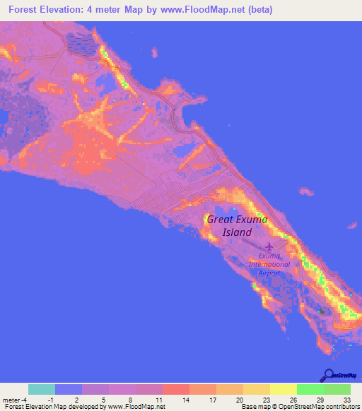 Bahamas Elevation Map.Elevation Of Forest Bahamas Elevation Map Topography Contour