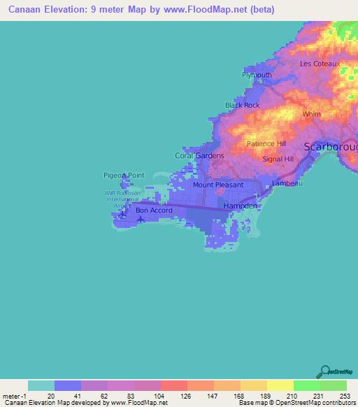 Black Hills Elevation Map.Elevation Of Canaan Trinidad And Tobago Elevation Map Topography
