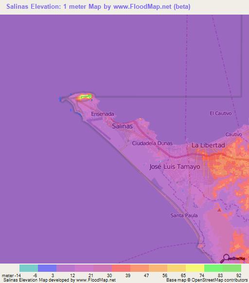 Elevation of Salinas,Ecuador Elevation Map, Topography, Contour on salinas pr, cuenca airport map, salinas ca, salinas sports complex, amazon rainforest map, salinas puerto rico map, salinas beach, salinas river valley, salinas gangs, salinas county map,