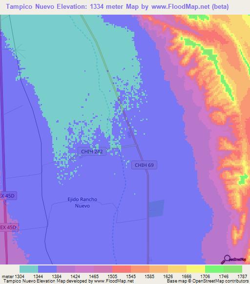 Elevation Of Tampico Nuevo Mexico Elevation Map Topography Contour