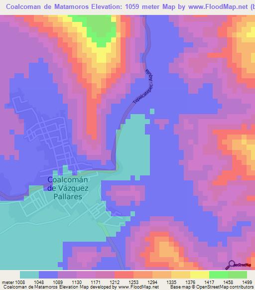 Elevation of Coalcoman de Matamoros,Mexico Elevation Map, Topography ...