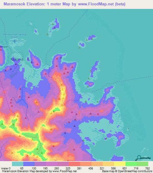 Micronesia - Peakbagger.com   Micronesia Map Range