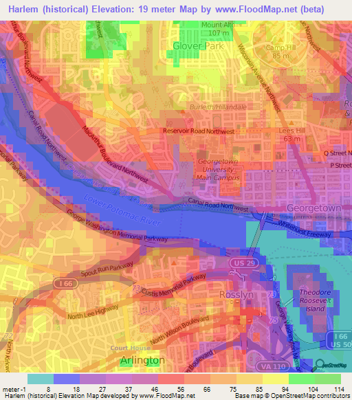 Elevation Of Harlem HistoricalUS Elevation Map Topography Contour - Us map harlem