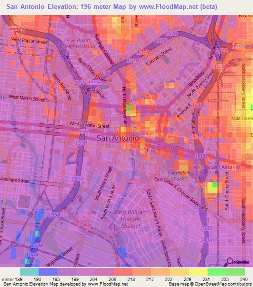 san antonio topographic map Elevation Of San Antonio Us Elevation Map Topography Contour san antonio topographic map