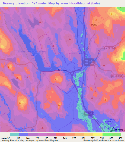 Elevation Of NorwayUS Elevation Map Topography Contour - Norway map topo