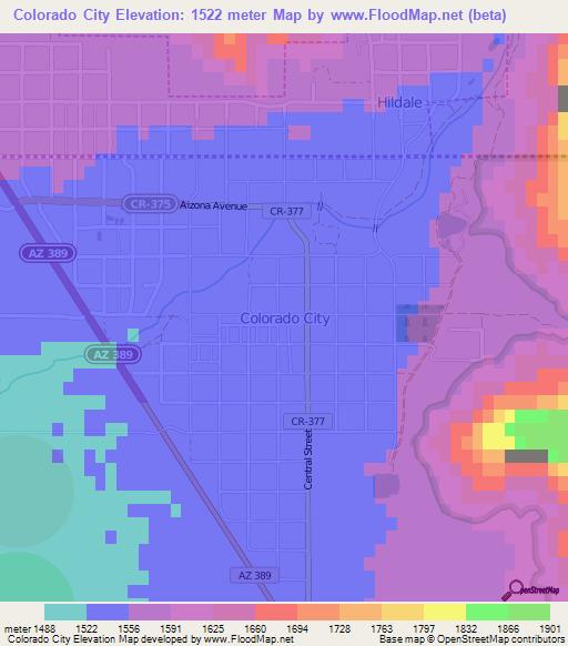 Colorado Elevation Map: Elevation Of Colorado City,US Elevation Map, Topography