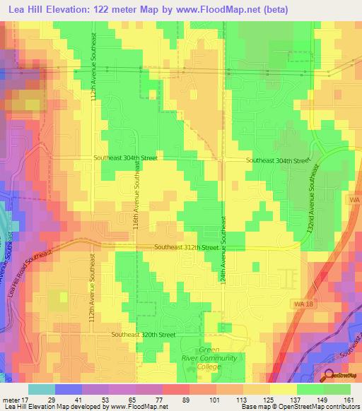 Elevation Of Lea HillUS Elevation Map Topography Contour - Us map elevation