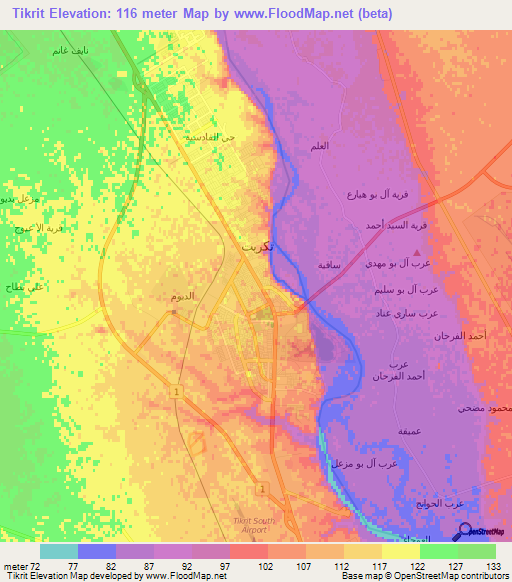 tikritiraq elevation map