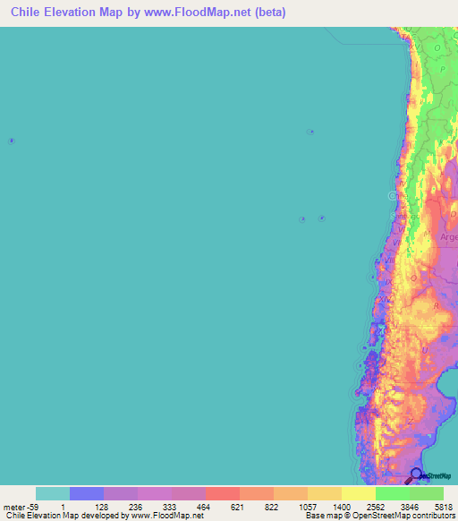 Chile Elevation And Elevation Maps Of Cities Topographic Map Contour - Chile cities maps