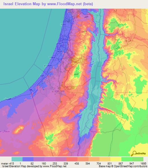 Israel Elevation And Elevation Maps Of Cities Topographic Map Contour - Israel maps
