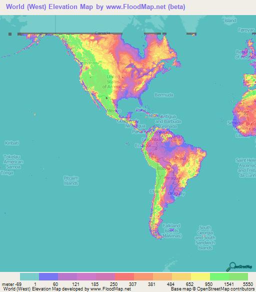 World Elevation Map: Elevation and Elevation Maps of Cities ...