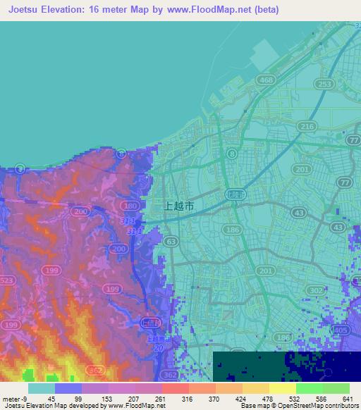 Elevation Of JoetsuJapan Elevation Map Topography Contour - Joetsu map