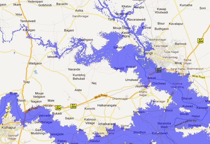 Flood Map: Elevation Map, Sea Level Rise Map